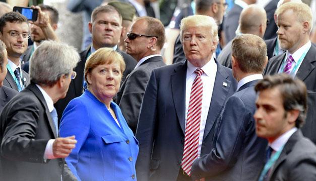 Trump empuja a mandatario durante reunión de la OTAN