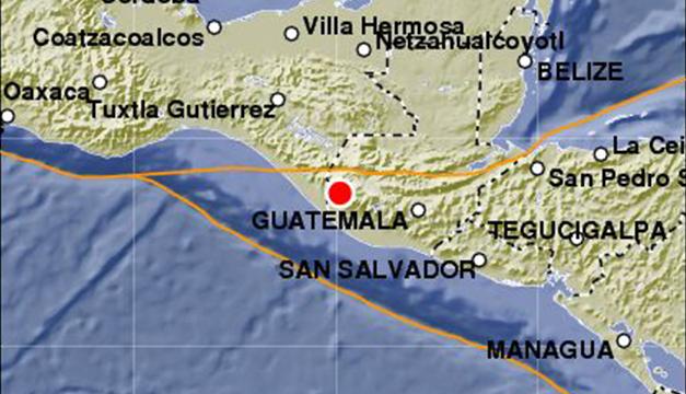 Registran 37 réplicas tras sismo en la frontera Chiapas-Guatemala