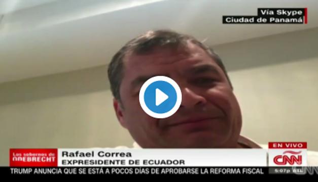 Rafael Correa se enoja y desconoce a la periodista de CNN