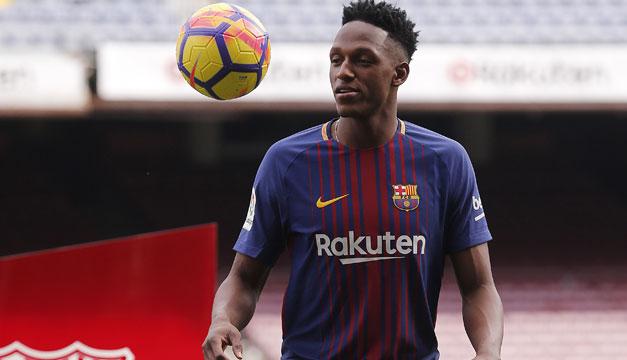 Yerry Mina llevará el número 24 en el Barcelona — Oficial