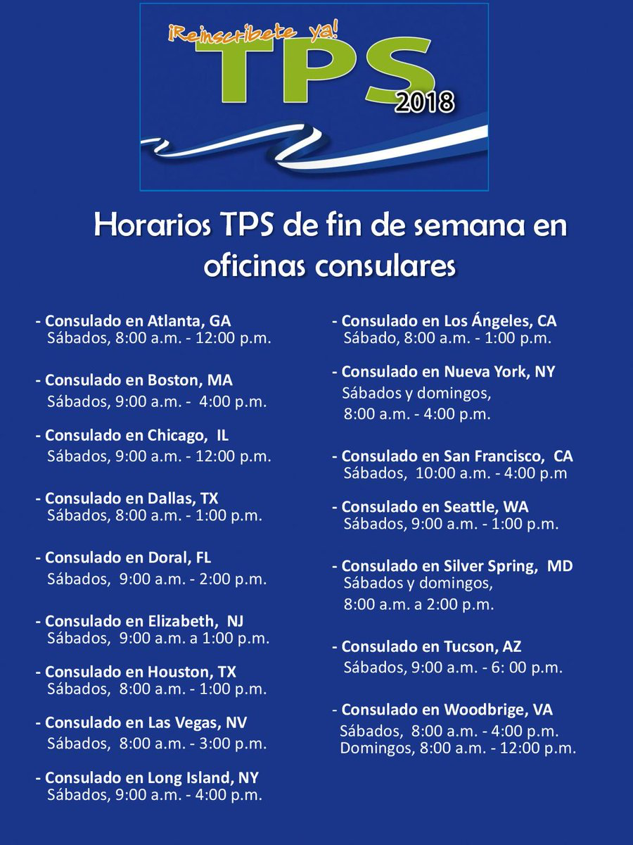 Este lunes concluye reinscripción del TPS para salvadoreños   Diario ...