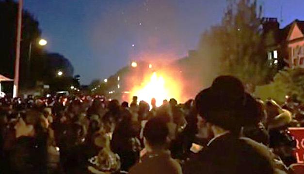 Explosión de fogata en festival judío deja 10 heridos