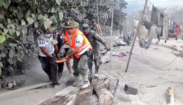 Entra en erupción el Volcán de fuego en Guatemala