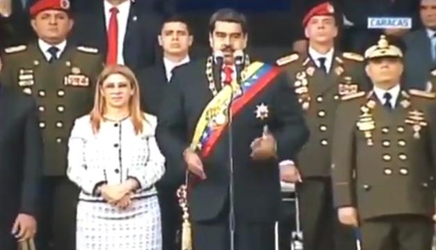 Nicolás Maduro interrumpe discurso por confuso incidente durante parada militar