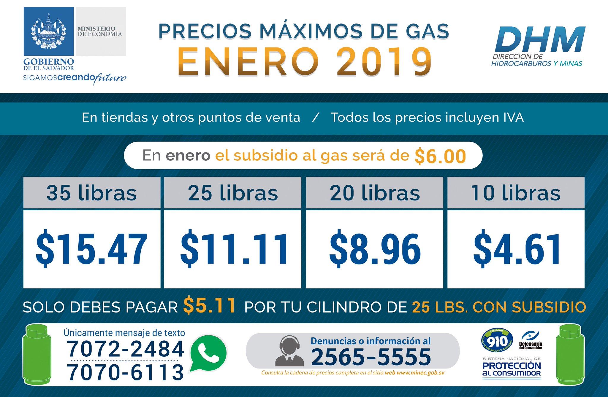 Estos Serán Los Precios De Los Cilindros De Gas Para Enero 2019