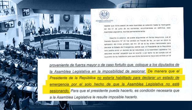 """Asamblea rechaza declaratoria de emergencia de Bukele por ser """"fraude de ley"""""""