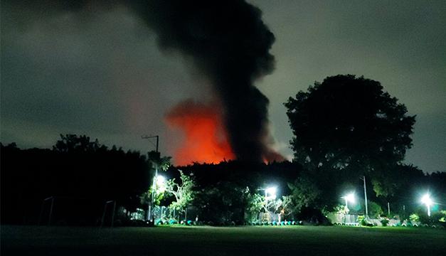 Arena y FMLN piden a Medio Ambiente y PNC informar sobre incendio en fábrica de baterías