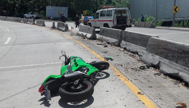 Muere motociclista en accidente de tránsito en carretera al Puerto La Libertad