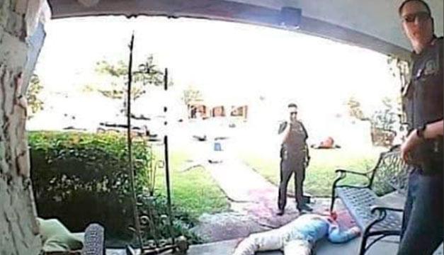 La horrorosa decoración de Halloween le ha traído a un hombre problemas con la policía