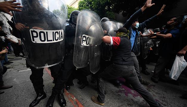 """CIDH condena """"uso excesivo de la fuerza"""" por la Policía en las manifestaciones en Guatemala"""
