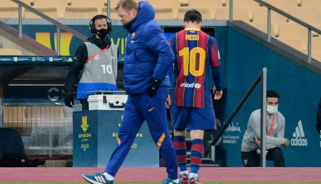 Se conoce la sanción que recibió Messi por su expulsión en la Supercopa