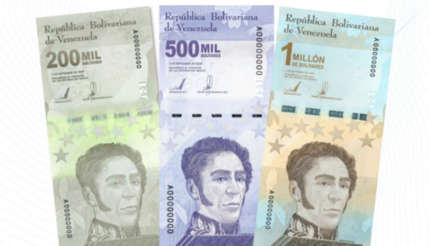 Venezuela lanza billetes de un millón de bolívares