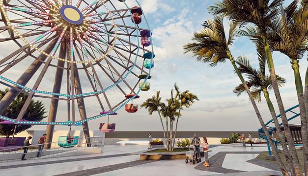Juegos mecánicos donados por China integrarán parque de diversión en Puerto de La Libertad