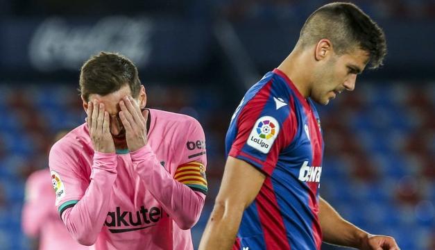 Barcelona se deja empatar ante Levante y complica sus aspiraciones al título