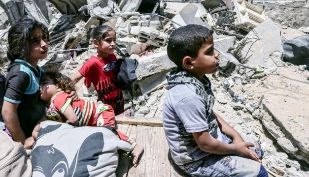 En Gaza 55 niños han muerto tras una semana de bombardeos israelíes