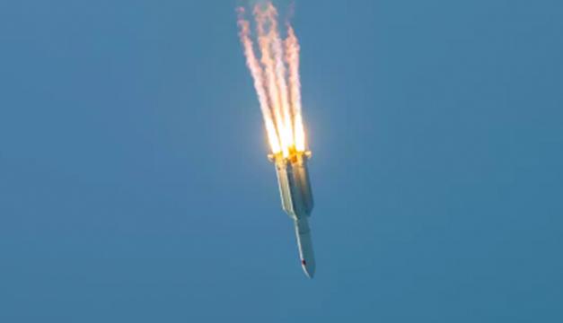 Una parte del cohete chino se desintegró sobre el océano Índico