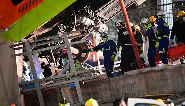 Asciende a 23 la cifra de muertos por el accidente en el metro de Ciudad de México