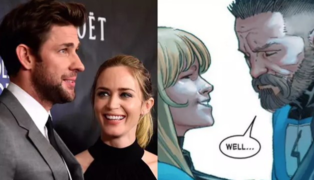 "Marvel hace otra oferta a John Krasinski y Emily Blunt para protagonizar ""Los 4 Fantásticos"""