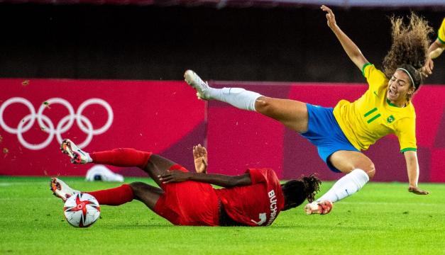 Canadá elimina a Brasil del torneo de fútbol femenino de Tokio-2020