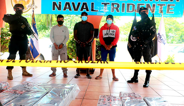 Decomisan 585 kilogramos de droga al sur de Acajutla