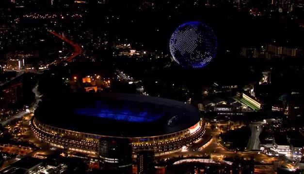 El planeta de drones que iluminó el cielo de Tokio