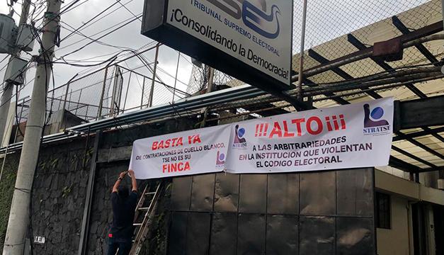 Sindicalistas reclaman al TSE por supuestas arbitrariedades