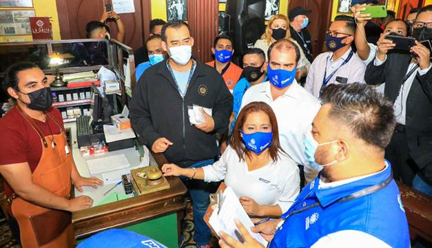 Autoridades verifican medidas sanitarias en Centro Histórico de San Salvador