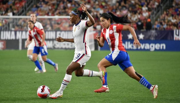Estados Unidos golea 9-0 a Paraguay en amistoso femenino