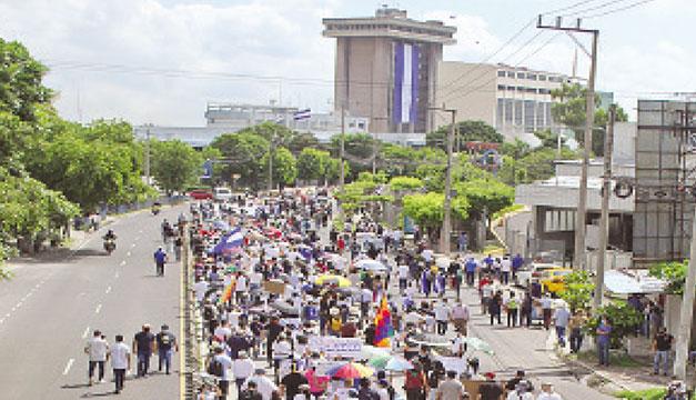 NI y Gana señalan a Arena y FMLN del vandalismo