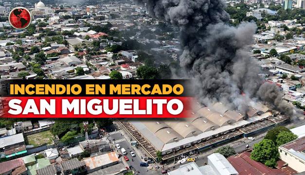 Bukele y Durán prometen un nuevo mercado y reconstrucción tras incendio en San Miguelito