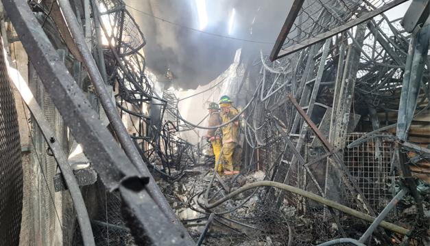 El 45 % del mercado San Miguelito con daños en infraestructura, estima Bomberos