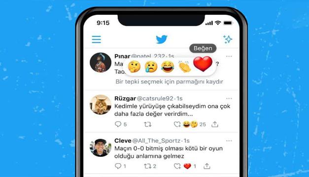 Twitter prueba las reacciones a los tuits mediante 5 emojis