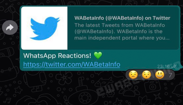 Así serán las reacciones a los mensajes en WhatsApp